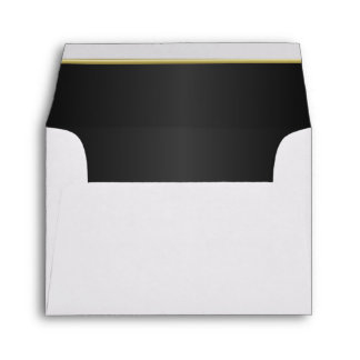 Lined Classic Black with Gold Bar Envelopes