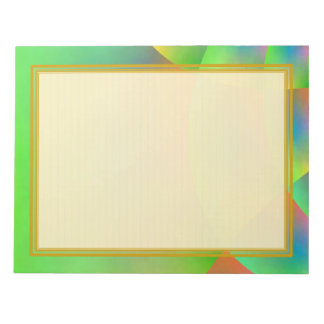 Lined Colorful Green 8.5x11 Note Pad