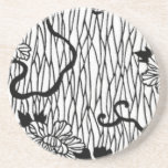 Lined Flowers Drink Coasters