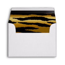 Lined Gold & Black Zebra Animal Stripes Envelope