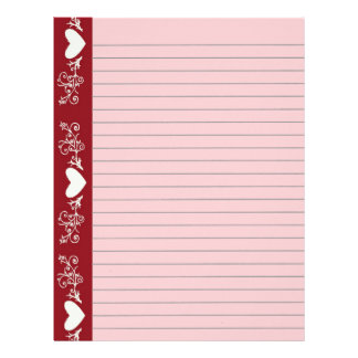 Lined Hearts Stationery