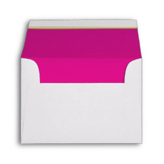 Lined Hot Pink Print Envelope