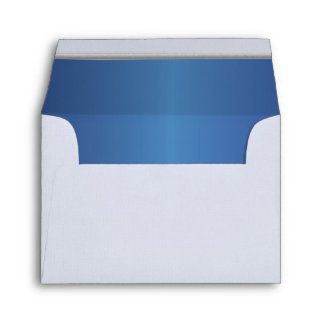 Lined Jewel Sapphire Blue Print with Silver Bar Envelope
