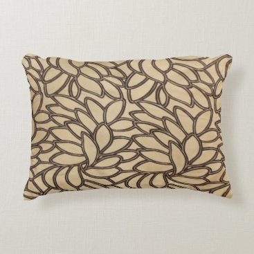 Beach Themed Lined Leaf Patteren Accent Pillow
