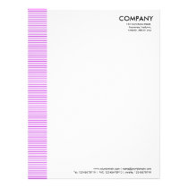 Lined Margin - Purple Letterhead