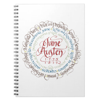 Lined Notebook - Jane Austen Period Dramas Cover