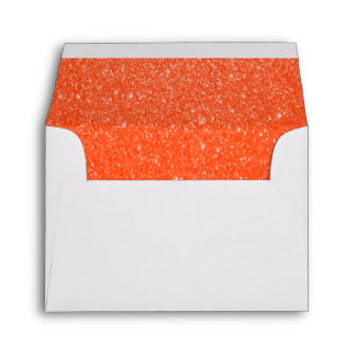 Lined Orange Glitter Envelopes