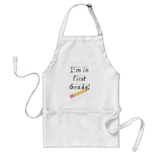 Lined Paper and Pencil First Grade Adult Apron