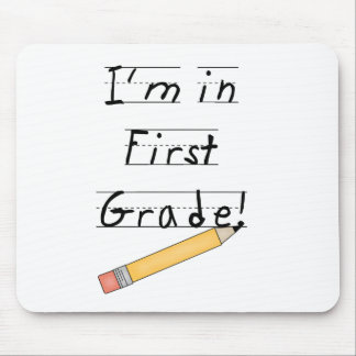Lined Paper and Pencil First Grade Mouse Mats