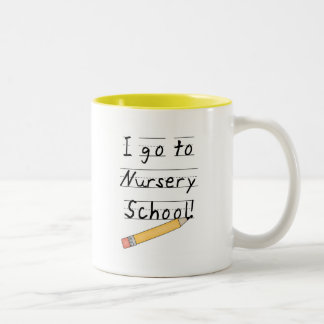 Lined Paper and Pencil Nursery School Two-Tone Coffee Mug