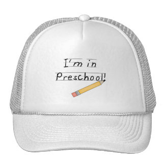 Lined Paper and Pencil Preschool Hat