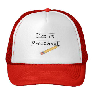 Lined Paper and Pencil Preschool Trucker Hat