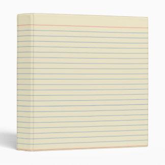 Lined Paper Binder