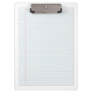 Lined Paper Clipboard