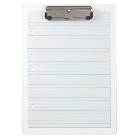 lined paper clipboard zazzle com