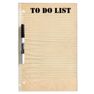 Lined Paper Dry Erase Board