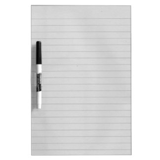 Lined Paper Dry-Erase Whiteboards