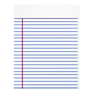 lined paper letterhead