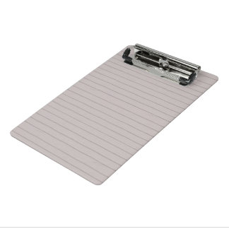 Lined Paper Mini Clipboard