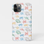 Lined Paper Spaceship Doodle Pattern iPhone 11 Pro Case