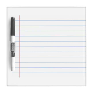 Lined Paper Styled Dry-Erase Board