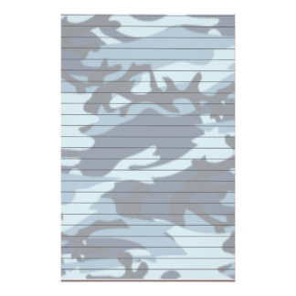 Lined Paper With Blue Camo