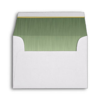 Lined Peridot Brush Steel Print Envelope