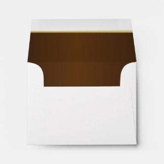 Lined Rich Dark Chocolate Brown Print Envelope