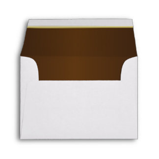 Lined Rich Dark Chocolate Brown Print Envelopes
