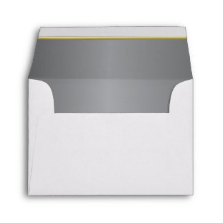 Lined Rich Steel Gray Print Envelope