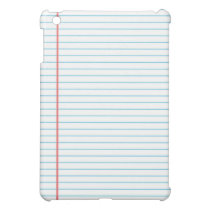 Lined School Notebook Paper Background for Teacher iPad Mini Case