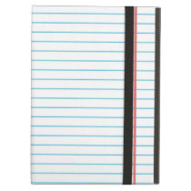 Lined School Notebook Paper   For Teachers Student Case For iPad Air
