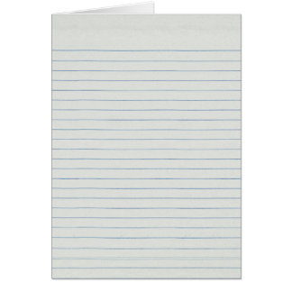 Lined School Paper Background Card