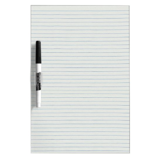 Lined School Paper Background Dry-Erase Board