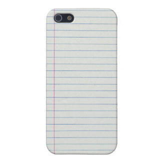 Lined School Paper Background iPhone 5 Cover