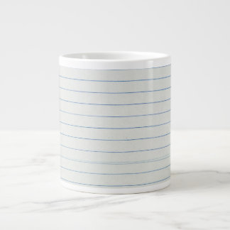 Lined School Paper Background Large Coffee Mug