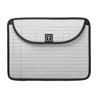 Lined School Paper Background Sleeve For MacBooks