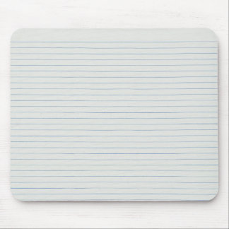 Lined School Paper Background Mouse Pad