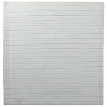 Lined School Paper Background Napkin