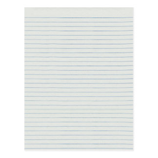 Lined School Paper Background Postcard