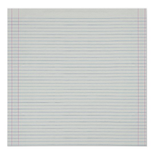 Lined School Paper Background Poster