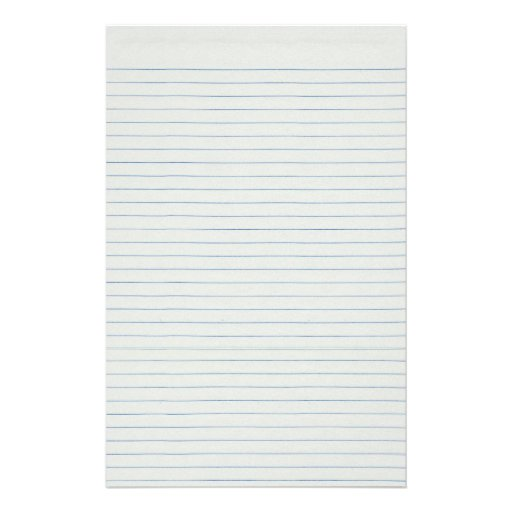 Lined School Paper Background Stationery