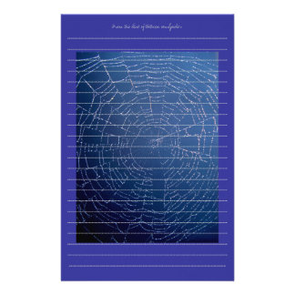Lined spider web stationery