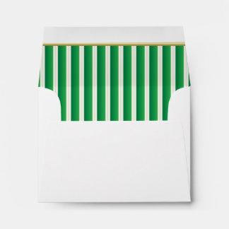 Lined Stripes in a Shamrock Green Print Envelope