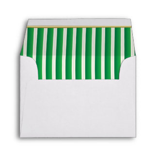 Lined Stripes in a Shamrock Green Print Envelopes
