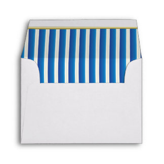 Lined Stripes in an Electric Blue Print Envelope