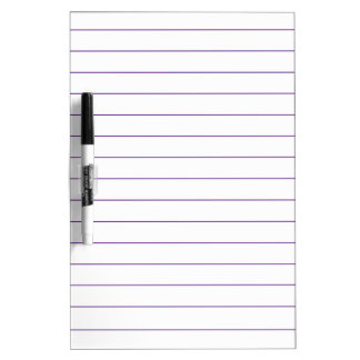 Lined Styled Paper Dry Erase Board