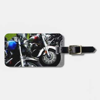 Lined Up Bag Tag