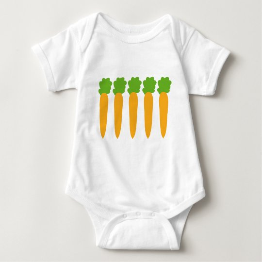 lined up carrots baby bodysuit