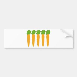 lined up carrots bumper sticker